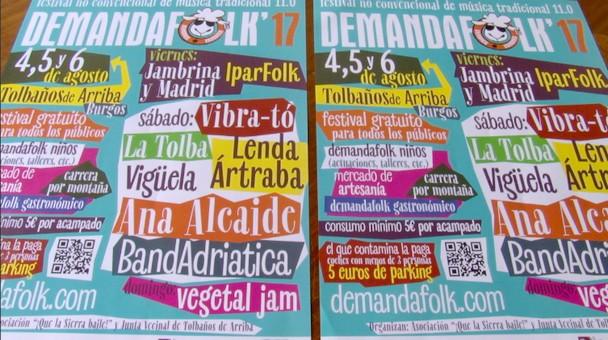 La undécima edición del Festival Demanda Folk será el 4,5 y 6 de agosto