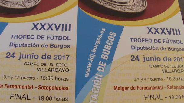 El Soto de Villarcayo acogerá la final del XXXVIII Trofeo de Fútbol Diputación Provincial