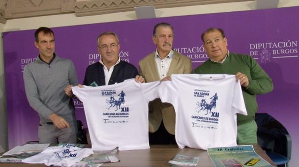 La Diputación provincial y el Ayuntamiento de San Juan de Juarros presentan la XII edición del Canicross de Burgos