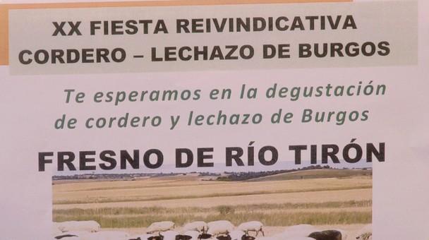 El 14 de septiembre la localidad de Fresno de Río Tirón acogerá la fiesta del cordero y el lechazo