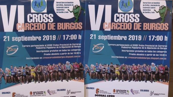 La localidad de Carcedo de Burgos acoge este sábado 21 de septiembre el VI Cross en favor de ELACyL