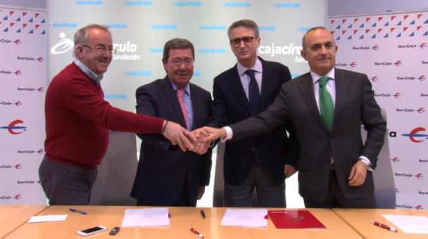 Ibercaja, Fundación Cajacírculo y Diputación firman convenio para realizar el Programa de Deportes en Edad Escolar de la provincia de Burgos
