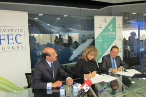 FEC y Cajaviva Caja Rural firman un acuerdo para fomentar el comercio burgalés