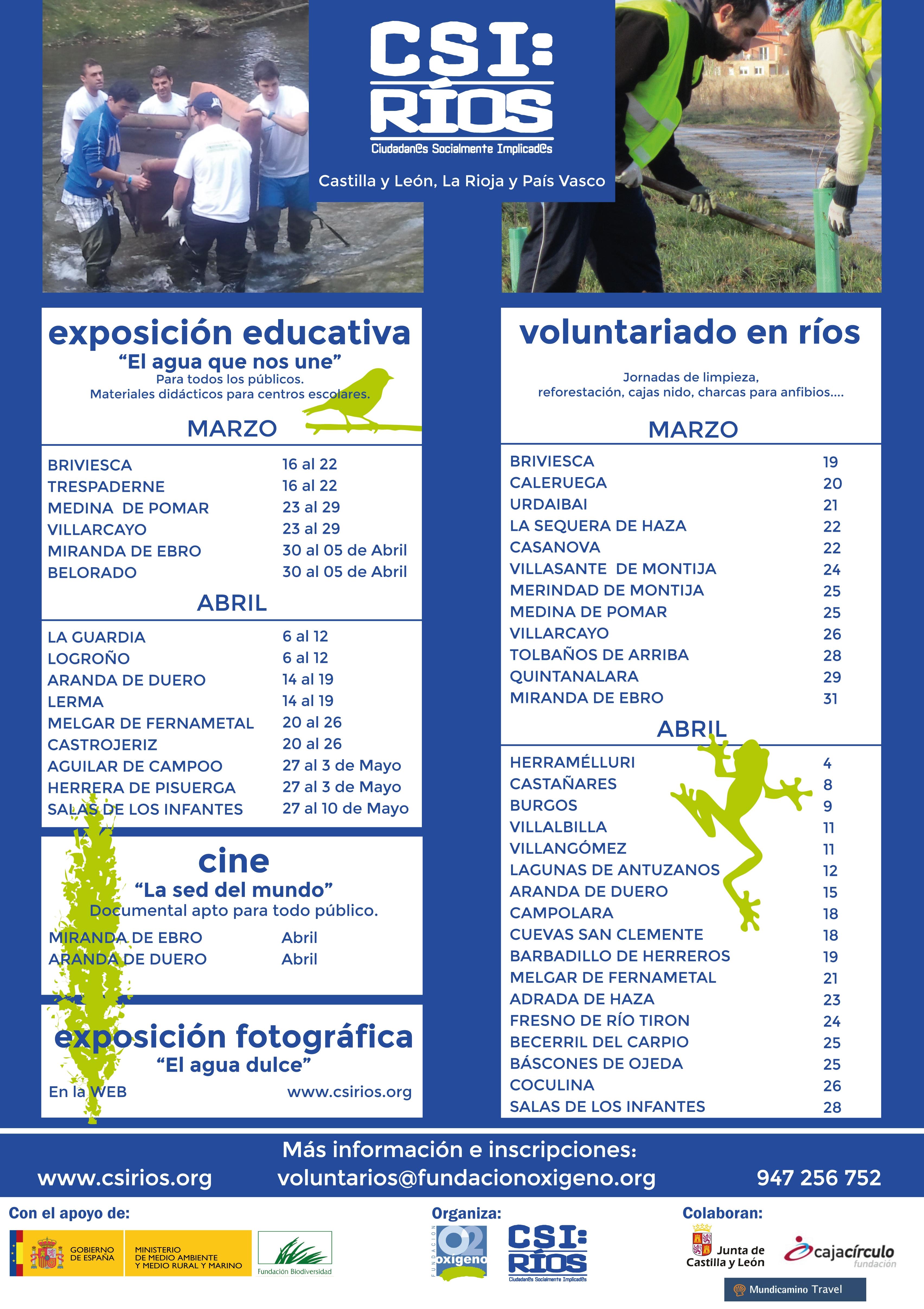 Cartel de actividades CSI Rios