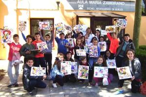 Cincuenta niños visitan las Aulas María Zambrano