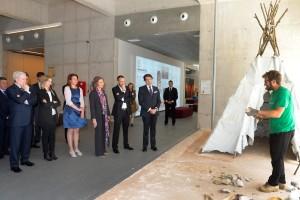 La Reina Doña Sofía preside la reunión de la Fundación Atapuerca