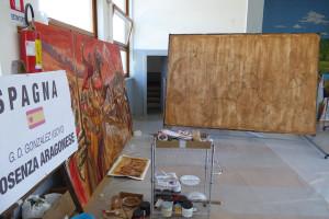 Cinco artistas internacionales pintan la historia de Cosenza en sus calles