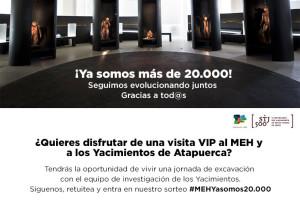 El MEH supera los 20.000 seguidores en  Twitter y lo celebra con un sorteo