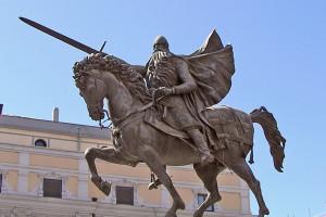 Ofrenda a El Cid por parte de la Hermandad de Caballeros Hijosdalgo de Río Ubierna e Infanzones de Vivar de El Cid
