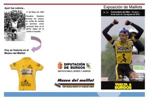 El IDJ inaugura una exposición de Maillots con motivo de la Vuelta a Burgos