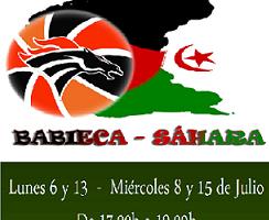 CB Babieca enseña baloncesto a los niños saharauis