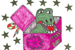 Ya hay ganadores del Concurso nacional de Tarjetas Navideñas «Los Dinosaurios y la Navidad»