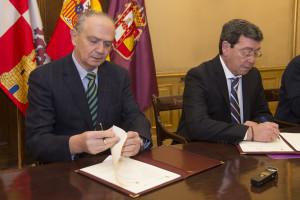 Diputación y la Fundación Caja de Burgos firman convenio para el desarrollo de programas formativos para desempleados