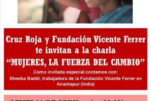 """Cruz Roja Española Burgos y Fundación Vicente Ferrer realizan una charla bajo el lema """"Mujeres, la fuerza del cambio"""""""