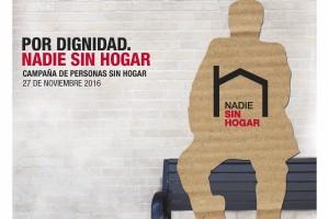 """Cáritas celebra con el lema """"Por Dignidad. Nadie Sin Hogar"""" el próximo 27 de noviembre el Día de las Persona sin Hogar"""