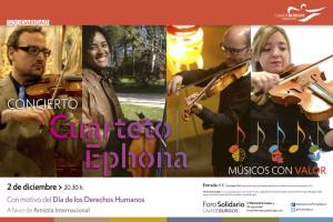 Cuarteto Ephona actúa el viernes 2 de diciembre en el Foro Solidario dentro del programa 'Músicos con Valor'