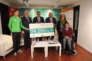 La Iniciativa Solidaria del Grupo Caja Rural y Seguros RGA recauda 74.260 euros para Fundación ONCE