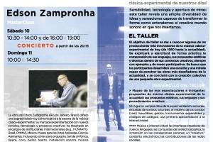 El músico brasileño Edson Zampronha dará un taller-masterclass este fin de semana en el MEH