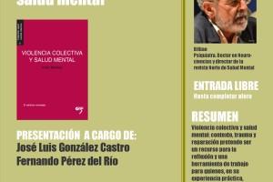 Este viernes en el MEH se presenta el libro Violencia colectiva y salud mental del psiquiatra Iñaki Markez