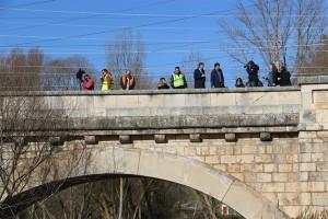 El Alcalde visita las obras de la primera fase del nuevo puente de las Rebolledas