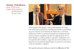 La Sala Capitular del Monasterio de San Juan recibe mañana a Juan José García y Pablo Molinero editores de Siloé
