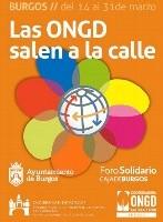 Bajo el lema 'Las ONGD salen a la calle',para sensibilizar y dar a conocer el trabajo que realizan