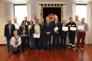 El Subdelegado de Gobierno de Burgos Roberto Saiz reconoce la labor de los Radioaficionados de la Red de Emergencias