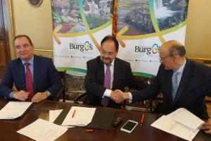 Cajaviva Caja Rural y Sodebur firman convenio para potenciar la marca Burgos en la Red