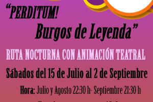 Burgos Turismo y Ronco Teatro proponen la Ruta Nocturna: Burgos de Leyenda