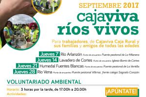 """Cajaviva, Ríos vivos"""" es el nuevo compromiso de Cajaviva Caja Rural con el medio ambiente"""