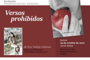 Versos prohibidos de la poetisa Eva María Vallejo se presenta en el Palacio de la Isla