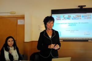 La Dra. Connie Kasari de la Universidad de California visita a Autismo Burgos