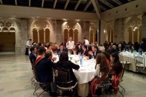 Cena tradicional de San Lesmes organizado por la Federación de Fajas y Blusas de Burgos