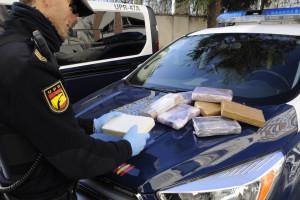 La Policía Nacional interviene más de diez kilos de cocaína en un control de acceso a la Ciudad