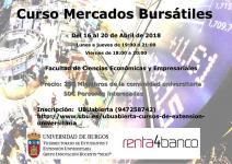 En abril se celebrará el Juego UBUBursátil y el Curso de Mercados Bursátiles