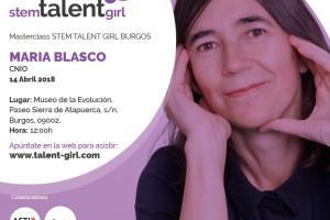 María Blasco impartirá este sábado en el Museo de la Evolución Humana la sexta masterclass del proyecto Stem Talent Girl
