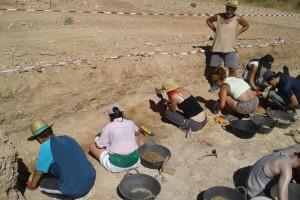 Se realizó la II Campaña de excavación en el yacimiento achelense de Albalá