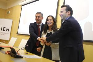 """El CENIEH, la Fundación Caja de Burgos y la Obra Social """"la Caixa"""" renuevan su compromiso para potenciar el conocimiento de la evolución humana y el fomento de vocaciones científicas"""