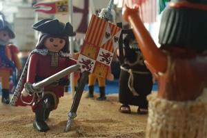 El MEH acoge la exposición 'Play Nuevo mundo', que recrea el descubrimiento de América en un diorama de Playmobil