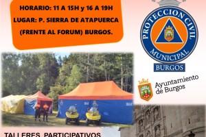Exposición de medios y jornada divulgativa de la Agrupación de Voluntarios de Protección Civil del Ayuntamiento de Burgos
