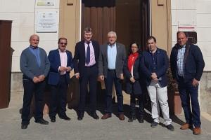 El Alcalde de Burgos Javier Lacalle visita Cabra del Santo Cristo de Burgos en Jaen