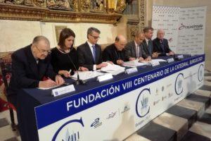 Ibercaja, Fundación Cajacírculo y Fundación Ibercaja se suman al VIII Centenario de la Catedral con una aportación de 160.000 euros