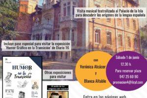 El Instituto de la Lengua programa el sábado 1 de junio una visita Musical Teatralizada al Palacio de la Isla para descubrir los Orígenes de la Lengua