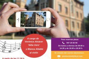 El Instituto Castellano y Leonés de la Lengua realiza una visita musical teatralizada al Palacio de la Isla