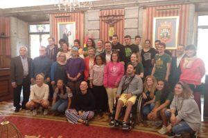 El alcalde de Burgos recibe a los jóvenes belgas y burgaleses que participan del proyecto europeo The Talent Journey