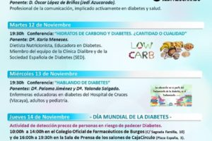 La Asociación de Diabéticos de Burgos (ASDIBUR) ha organizado un ciclo de actividades y conferencias en torno al día mundial de la Diabetes