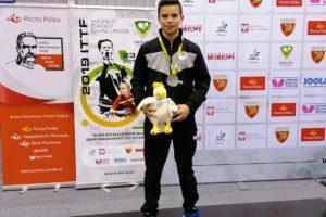 Daniel Berzosa subcampeón del mundo cadete de Tenis de Mesa