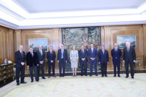 La Reina Doña Sofía recibe al Patronato de la Fundación Atapuerca por su vigésimo aniversario