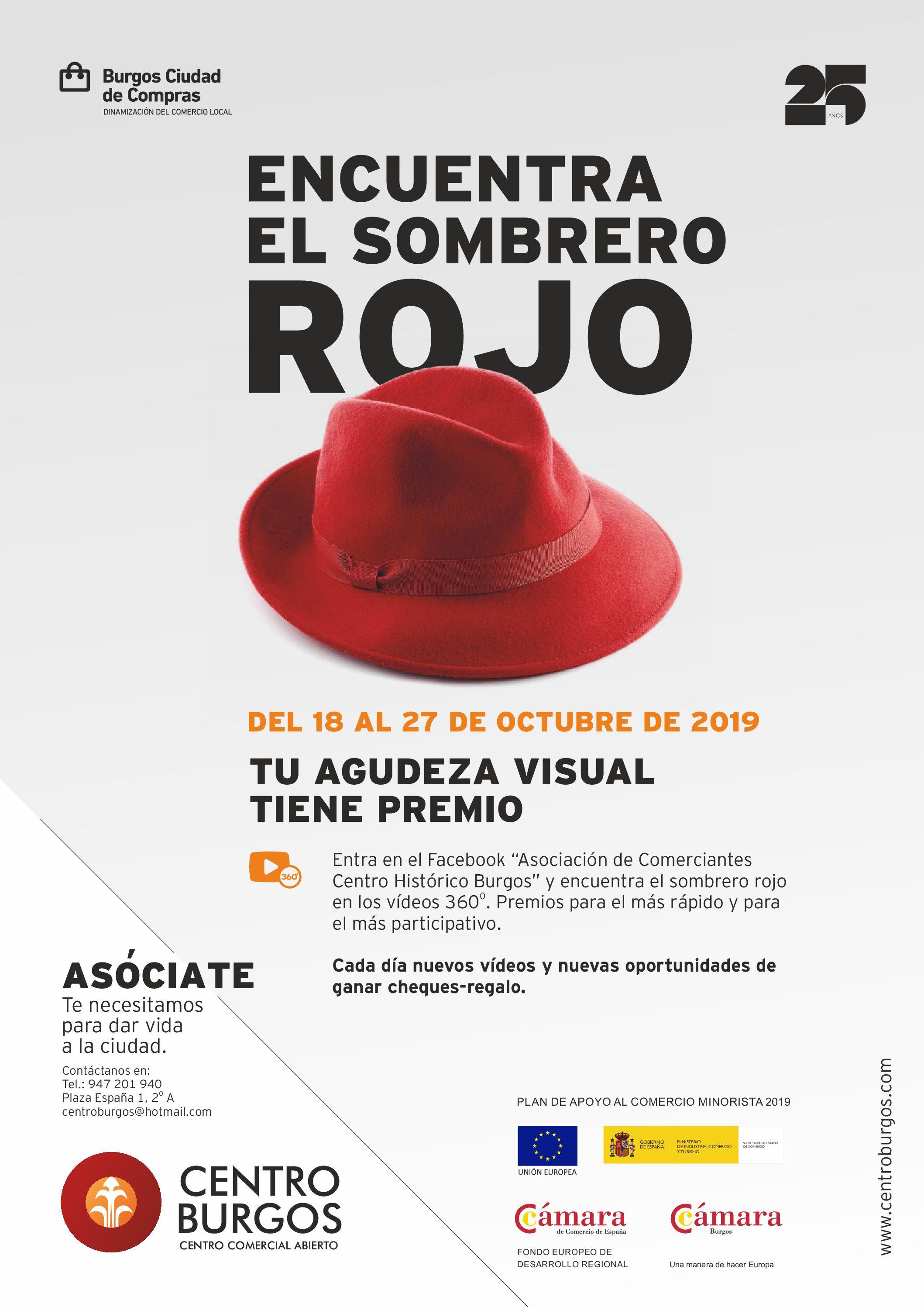 Se lanza la nueva campaña de Centro Burgos en colaboración con la Cámara de Comercio de Burgos : Sombrero Rojo