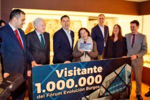 El Palacio de Congresos Fórum Evolución Burgos recibe a la visitante un millón